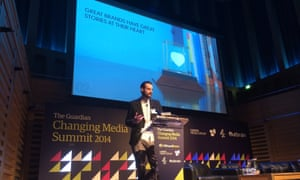 Adam Lawrenson, creative director at Digit on stage at CMS 2014.