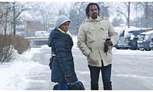 Fanus with an Eritrean friend inSweden