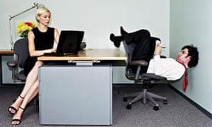 Employees at desk