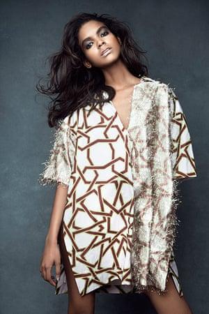 Metallics: Star-print dress