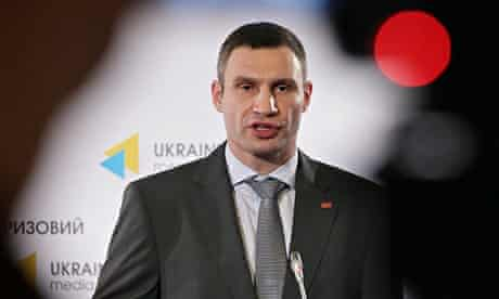 Politician Vitali Klitschko, who plans to stand in the presidential elections in May