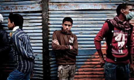 Egyptian youths in Cairo