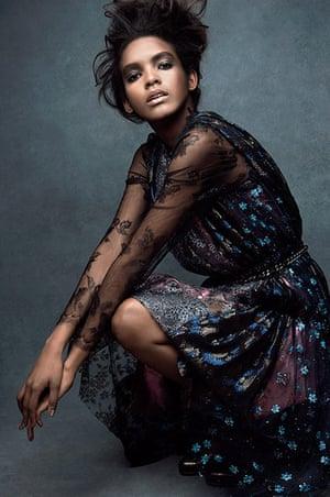 Iridescent: Silk cotton dress