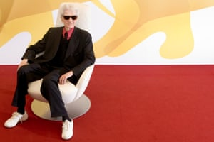 """2006: French director Alain Resnais at the 2006 Venice Film Festival photo call for """"Private Fears in Public Places""""."""