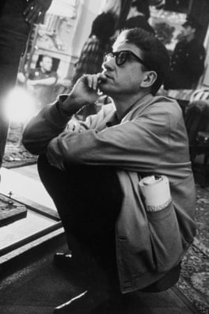 1961: Alain Resnais on the set of his movie L'Annee Derniere a Marienbad (Last Year at Marienbad).