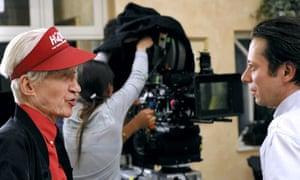 2009: Alain Resnais & Mathieu Amalric filming  Film 'les Herbes Folles (Wild Grass).