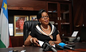 Central African interim president Catherine Samba-Panza
