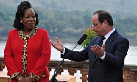 Catherine Samba-Panza and François Hollande
