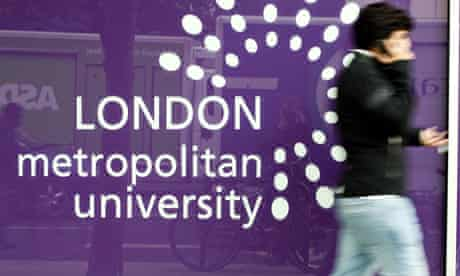 London Metropolitan University in north London, Britain  - 30 Aug 2012
