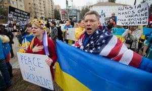 Ukraine protesters in Washington