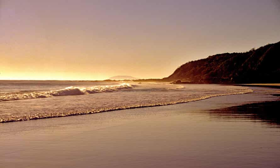 The Australian coast in the early morning