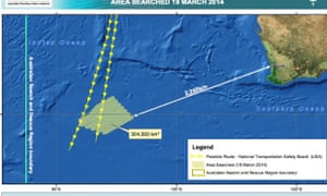 Search zone off Australian coast for missing Malaysia Airlines flight on Wednesday.