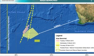 How Australia's search for the missing flight has progressed over the last two days.