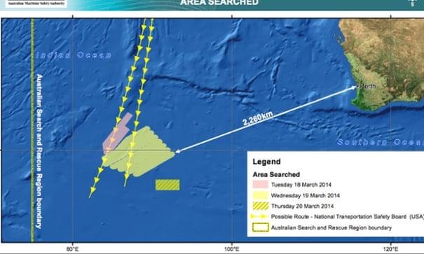 Missing flight MH370: no sightings of possible plane debris