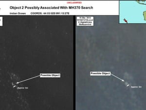 Australian authorities have released satellite images of the two objects spotted.