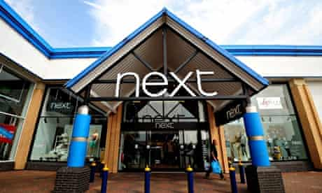 A Next store in Tamworth