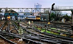 Network rail: track and rails around London