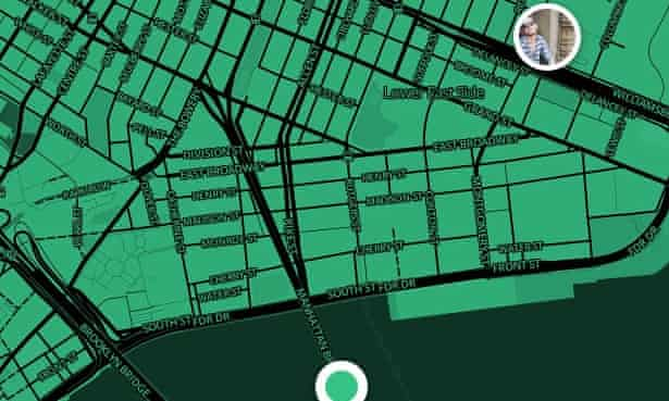 Cloak pinpoints the location of social contacts so they can be avoided.