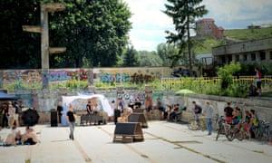 Zalgiris, a soviet-era former swimming pool in Vilnius, Lithuania.