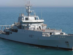 HMS Echo, the survey ship helping with the search for missing Malaysia Airlines flight MH370.