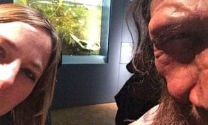 alice roberts and her neanderthal selfie