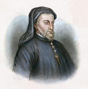10 best: Portrait of Geoffrey Chaucer