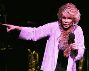 Comedian Joan Rivers performs at the Hard Rock Live at the Seminole Hard Rock Hotel and Casino on March 2, 2008 in Hollywood, Florida.