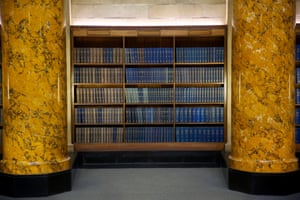 Reference books in the circular reading room.