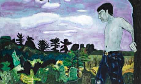 At the Edge of Town, 1986, by Peter Doig