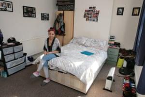 Lekhani Chirwa in her bedroom, in south London.