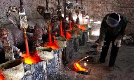 Jinyuan Company's smelting workshop in China's Inner Mongolia Autonomous Region