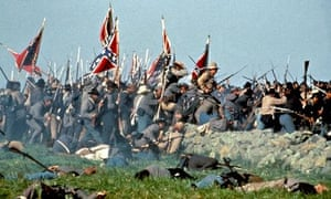 A battle scene from the film Gettysburg