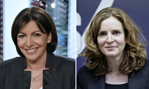 Socialist candidate Anne Hidalgo and UMP candidate for Paris mayoral poll Nathalie Kosciusko-Morizet