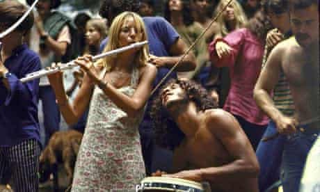 They're hippies, but do they know why? Woodstock, 1969.