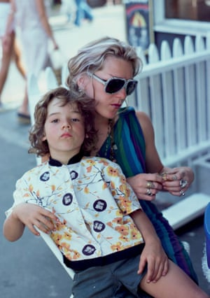 Max on Cookie's lap, theBackroom, Provincetown, Massachusetts, 1977.