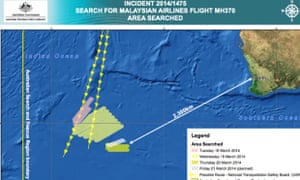 Australia's updated search area for the missing Malaysia Airlines flight on 21 March.