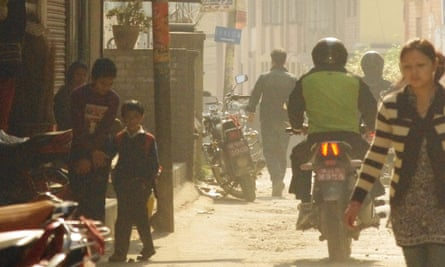 The pollution-choked streets of Kathmandu. Nepal ranked 177th out of 178 countries for air quality in the 2014 Environmental Performance Index.
