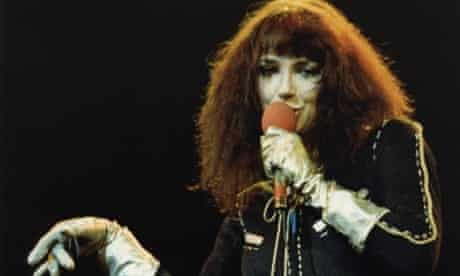 Kate Bush performing at Hammersmith Odeon in 1979