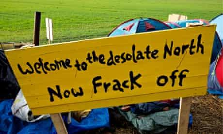 Anti-fracking placards Salford