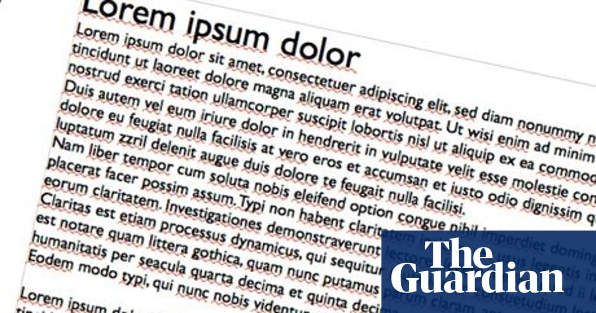 Lorem ipsum translated: it remains Greek to me | Books | The