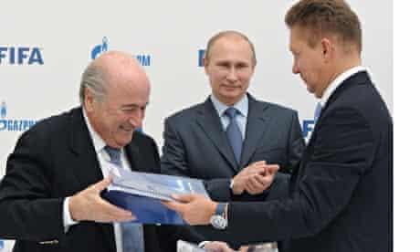 FIFA president Sepp Blatter visits Russia