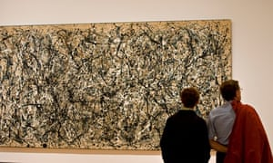 """Jackson Pollock painting """"One: Number 31""""."""