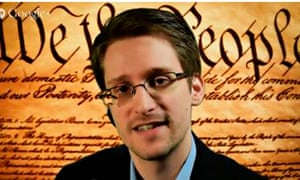 Edward Snowden speaking via videolink at SXSW
