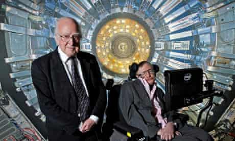 Peter Higgs and Stephen Hawking