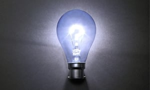 A question mark in a light bulb