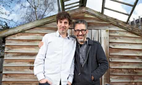 Erran Baron Cohen, left, and David Baddiel, writers of Infidel: the Musical