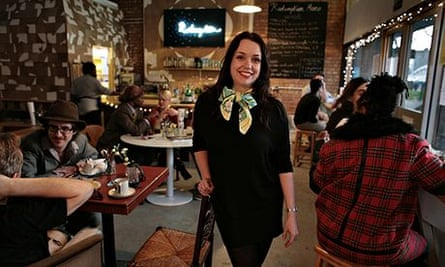 Catherine Salway in her bar, Redemption
