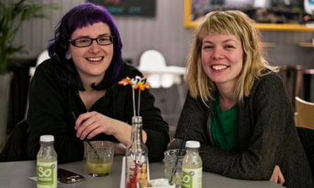 Fiona Schmitt and Alice Clough at the alcoholo-free Sobar in Nottingham