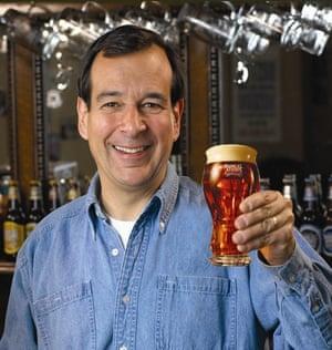 US Money Jim Koch Samuel Adams beer pint glass