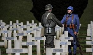 First world war commemorations at Douaumont cemetery, Verdun